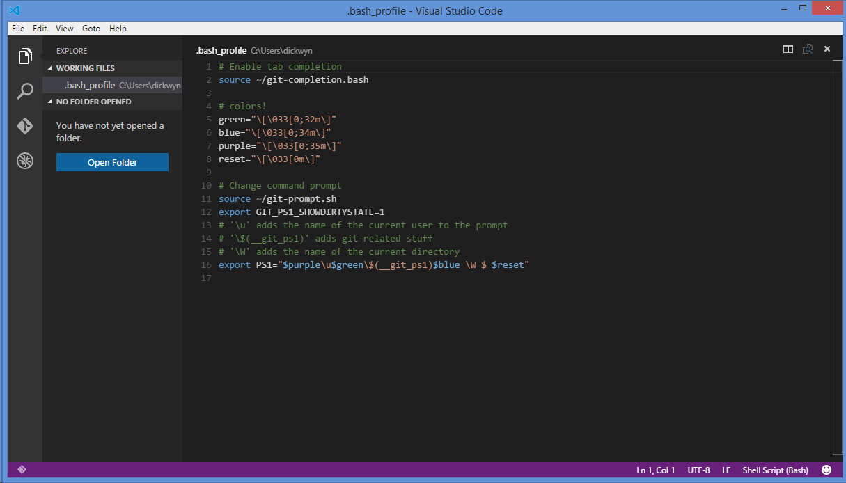 Making visual studio code the default text editor on git dickwyn visual studio code tutorial git baditri Gallery